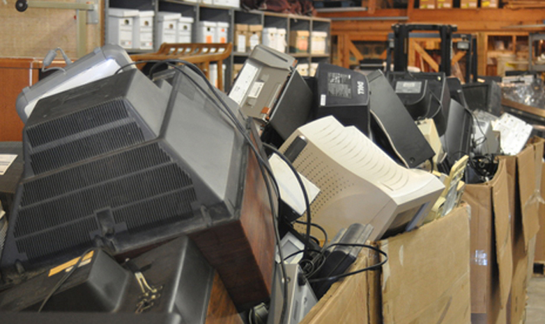 old televisions and computers; e-waste