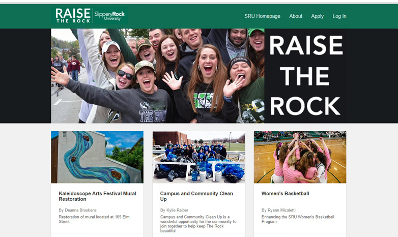 Raise the Rock website
