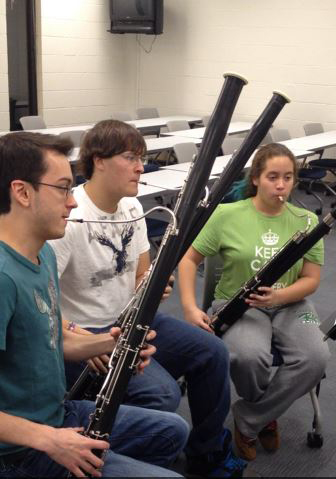 student bassoon players