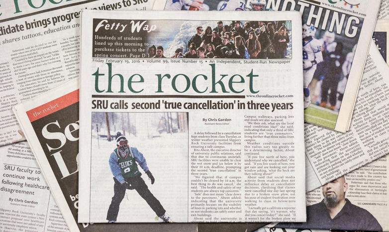 The Rocket college newspaper