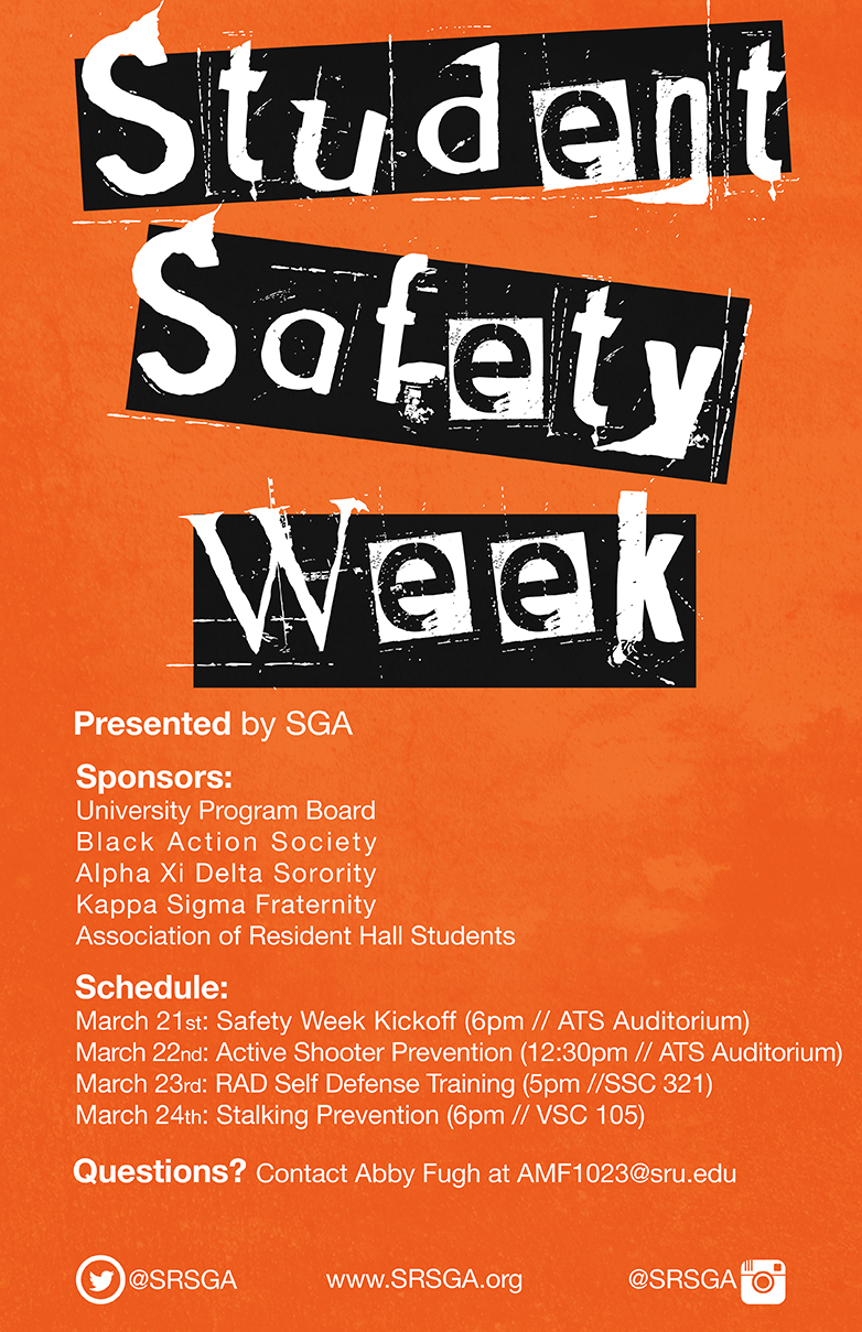 student safety week poster
