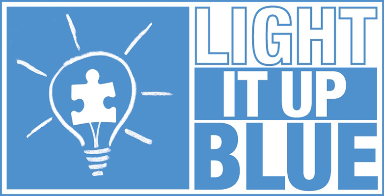 light up blue logo