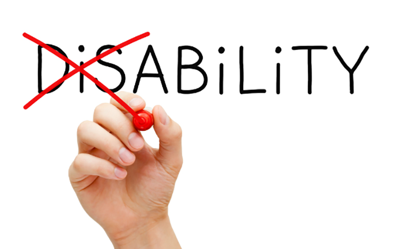 the word disability changed to read as the word ability