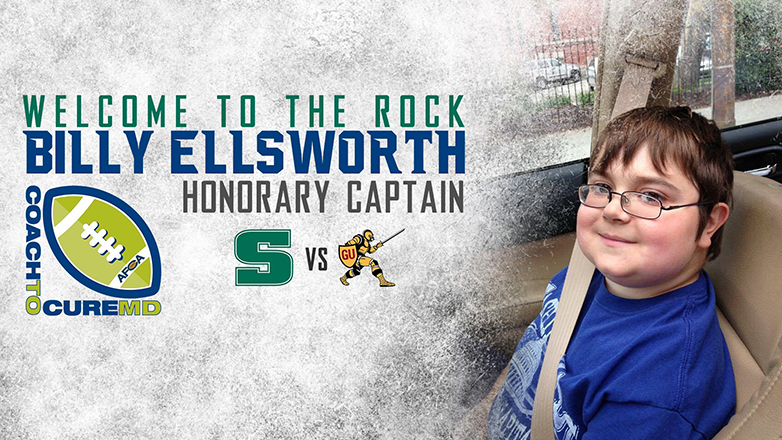 Billy Ellsworth honorary football captain