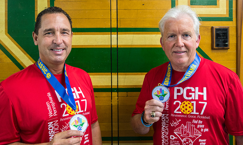 gino and denny with pickleballl medals