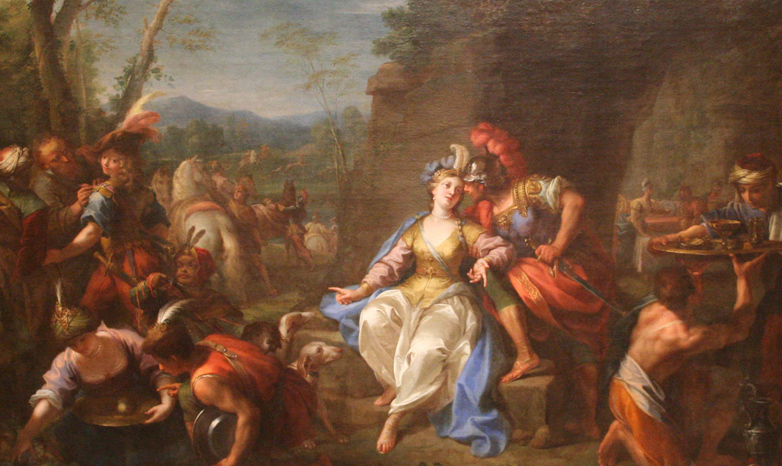 """Dido and Aeneas,"" a Baroque period oil painting"