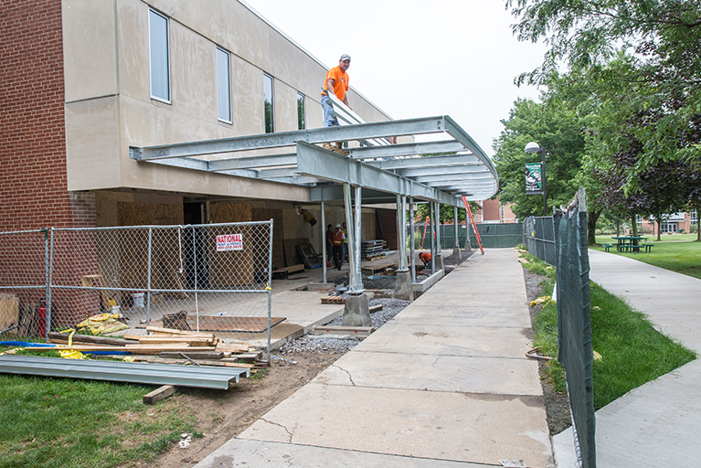 Construction on library