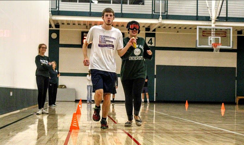 students participating in disability sports night