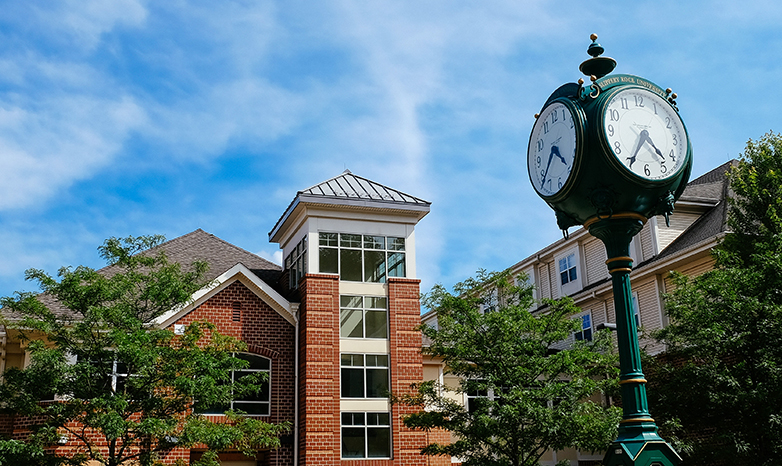 residential suites and campus clock