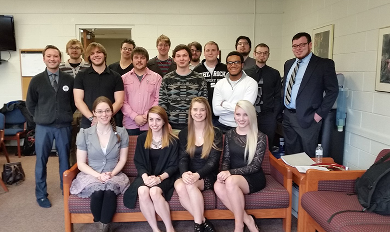 Ethics Bowl team from 2016