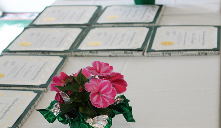 Flowers and awards