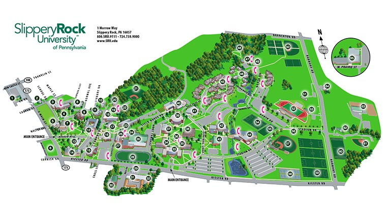 Slippery Rock Campus Map SRU releases new interactive campus map | Slippery Rock University