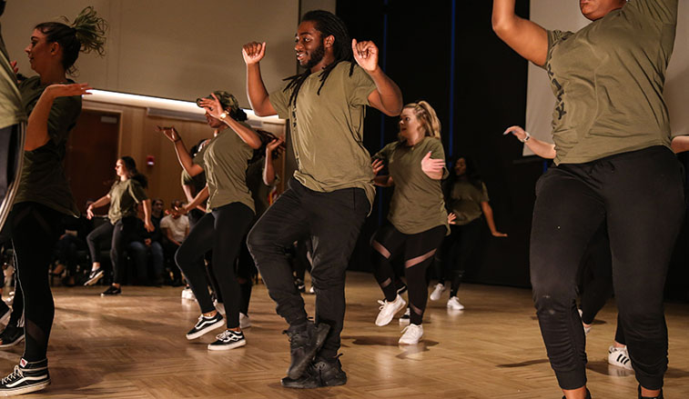 Jam Rock performs at Dancing With the SRU Stars