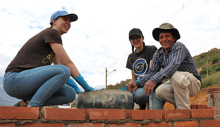 SRU students in Bolivia