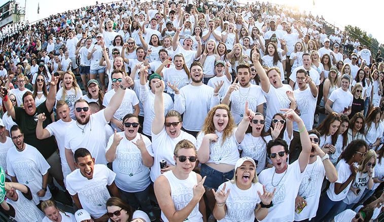 Student section during the 2017 White Out game