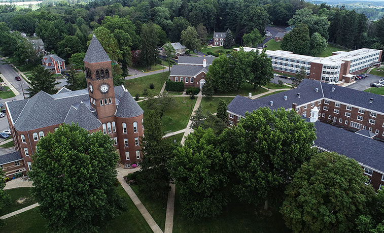 Upper campus from a drone
