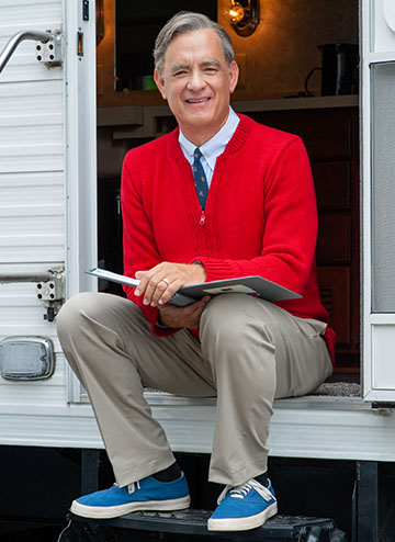Tom Hanks as Fred Rogers, photo courtesy of Sony Pictures