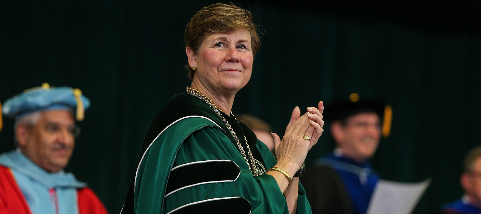 Cheryl Norton at Commencement
