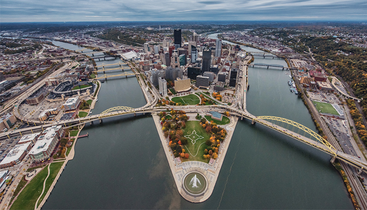 Overlook of the point in Pittsburgh.