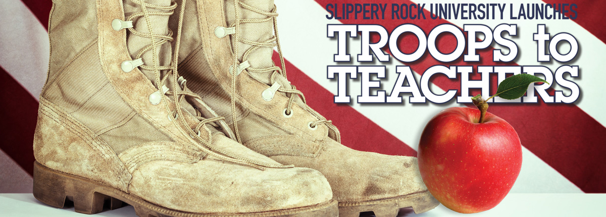 Troops to Teachers Logo with Boots