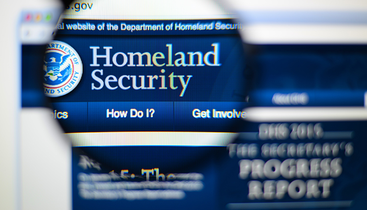 Picture of Homeland Secuirty website