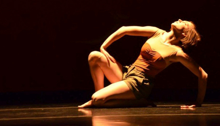 SRU dance major performs an original solo