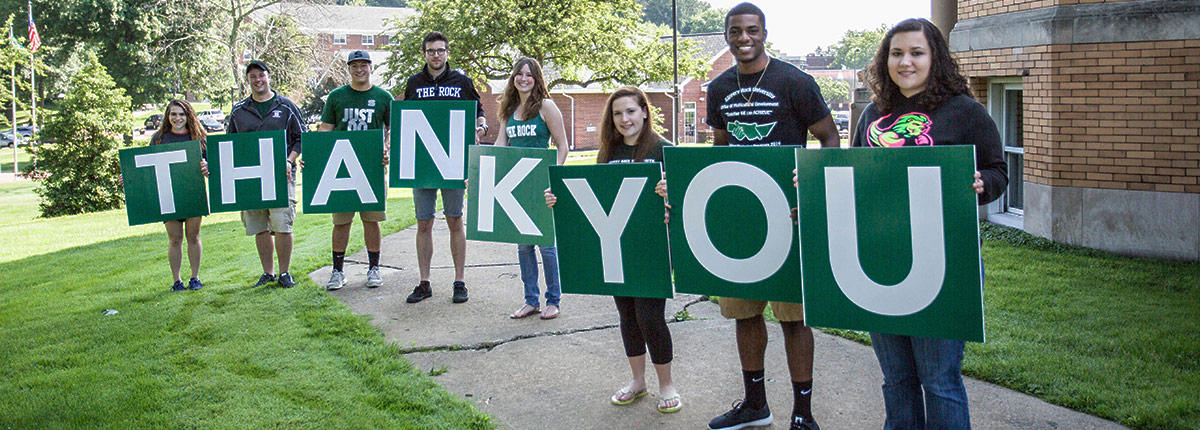 Give to SRU Thank You