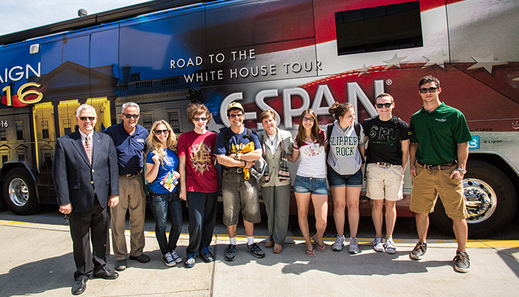 C-SPAN bus visits Slippery Roct University