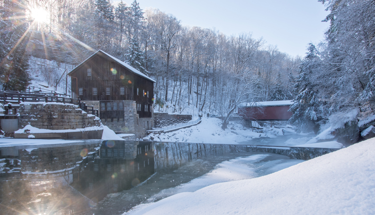 mcconnells mill in winter