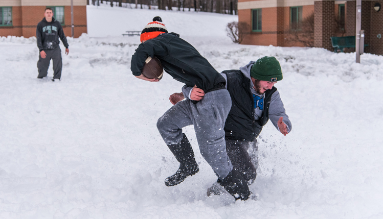 snow day football