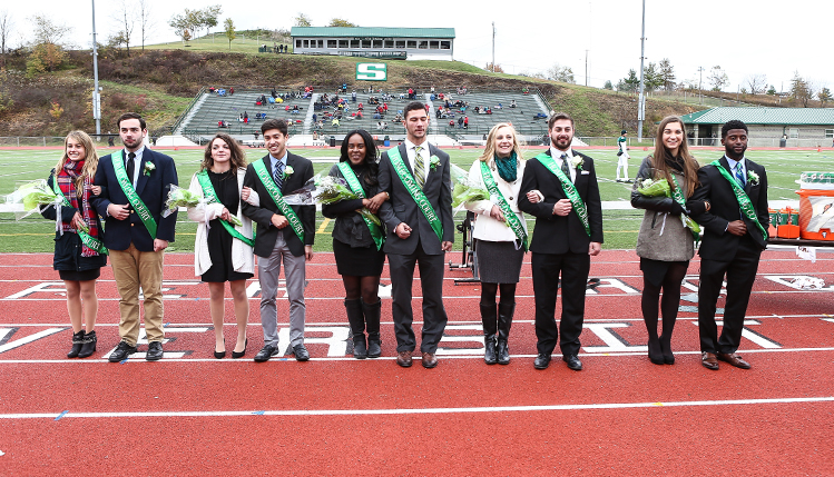 homemcoming game and homecoming court 2016