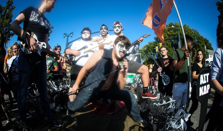 Greek life dressed up as KISS