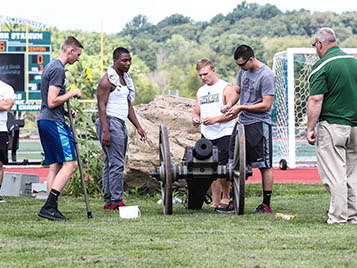 Thumbnail for SRU cannon crew fired up for football season