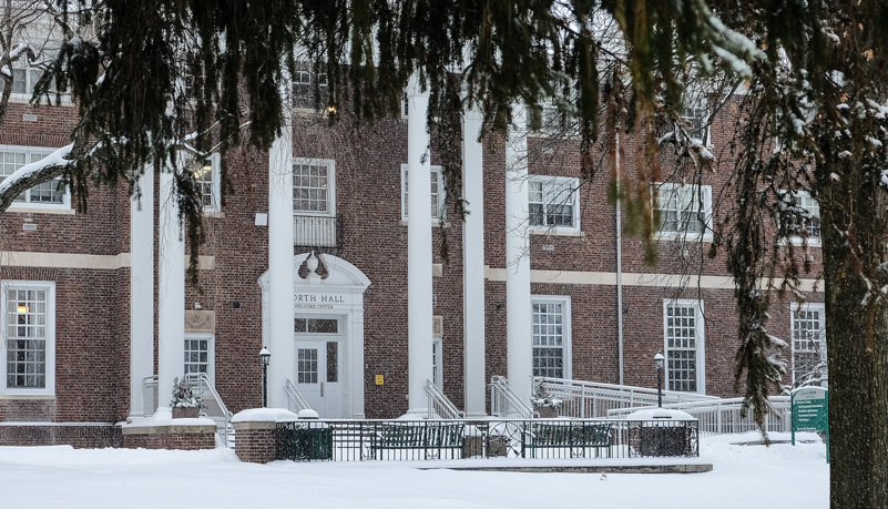 North Hall in the snow