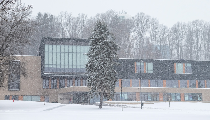 Smith Center in the snow
