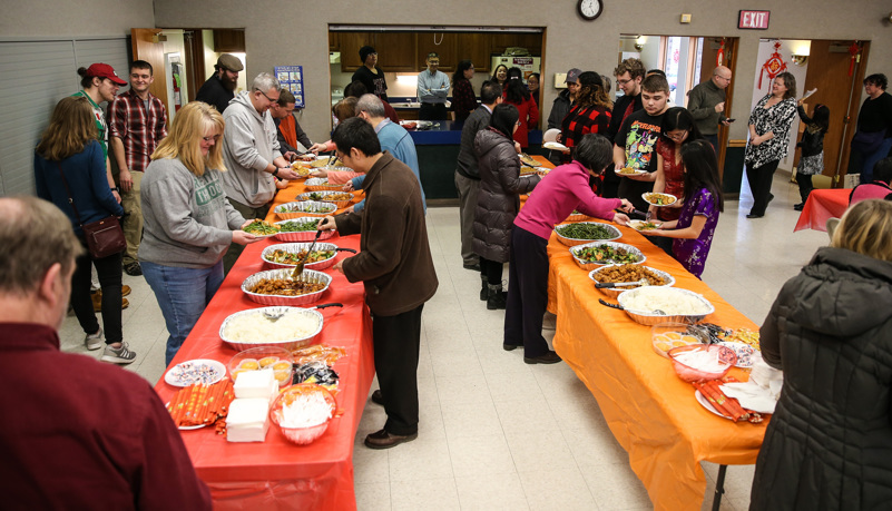 Food at the celebration