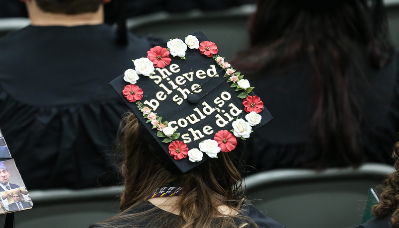 Cap that reads She believed she could so she did