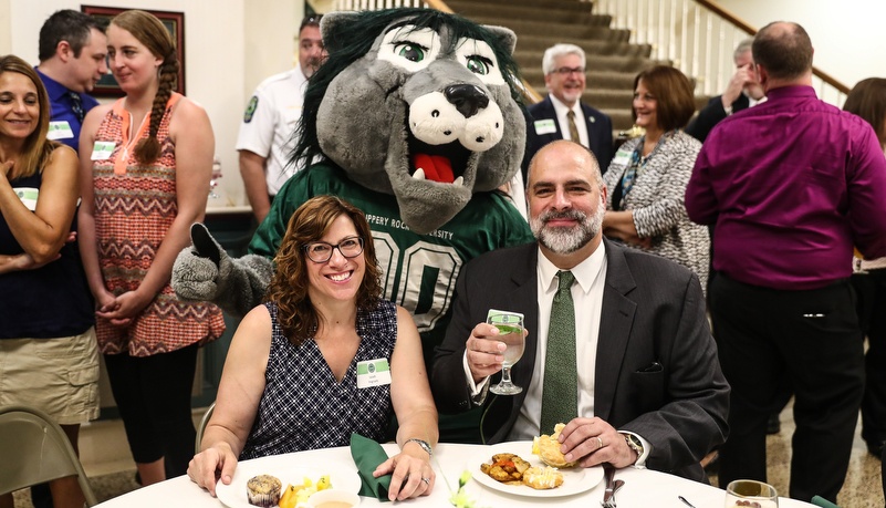 President Behre and his wife Leah with Rocky