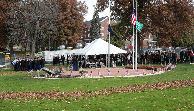 Attendees of the Veterans day ceremony