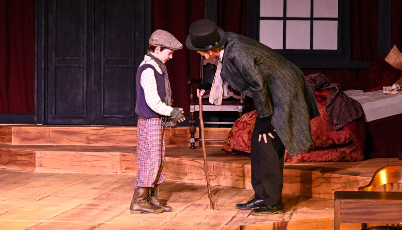 Scrooge with Tiny Tim