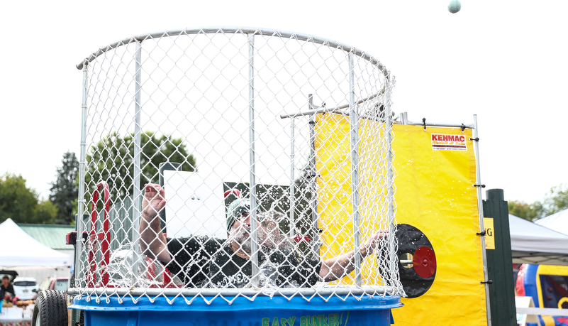 President in the dunk tank