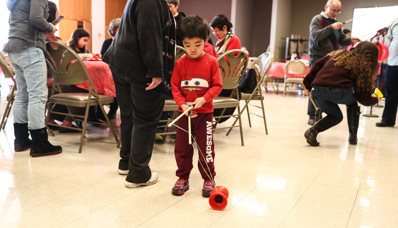 Child playing a Chinese game