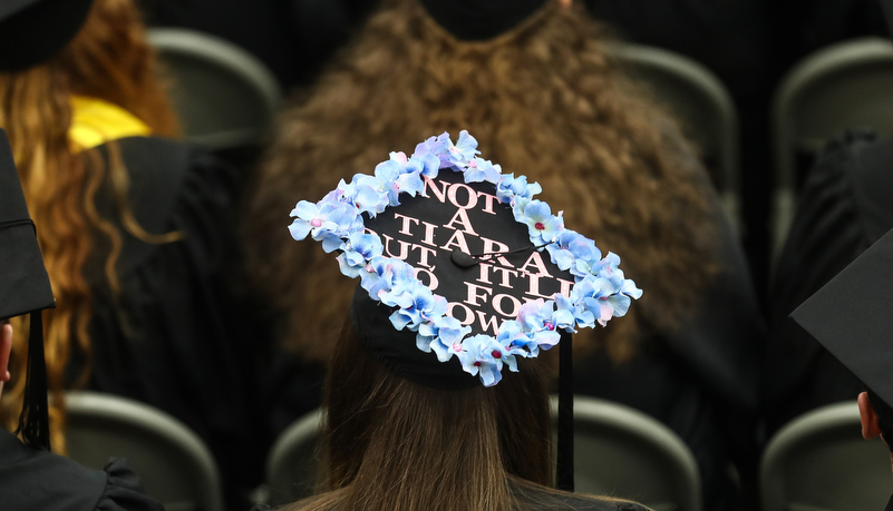 Decorated cap reading Not a tiara, but it will do for now