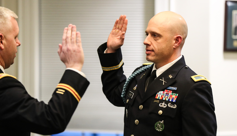 Col. Richey's sworn in