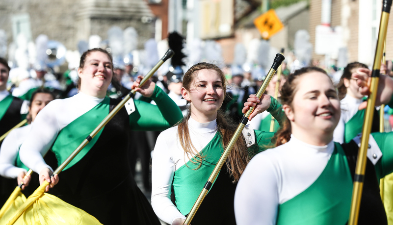 Marching band in Dublin
