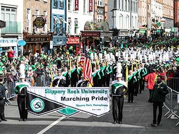 Thumbnail for SRU's Marching Pride wins pair of St. Patrick's Day Parade awards
