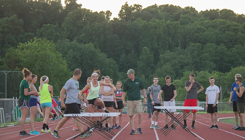 People doing track events