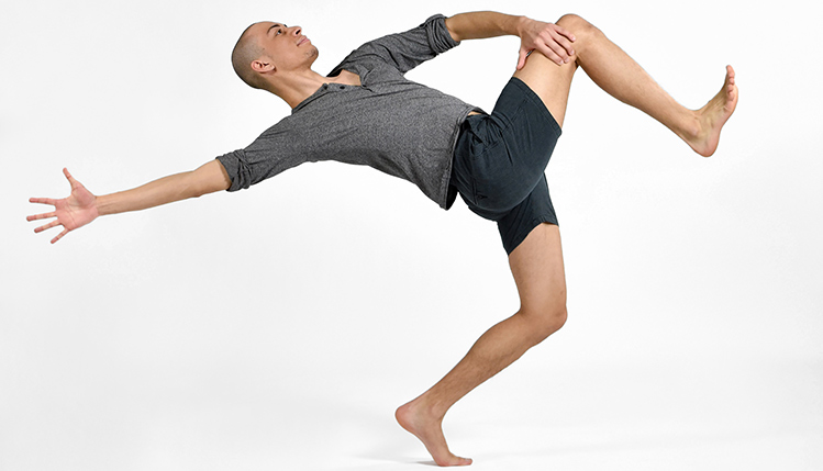 Dance student reaching his potential through dance