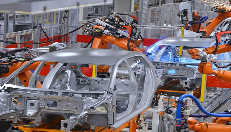 Car on an assembly line