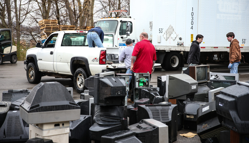 Old TVs to be recycled